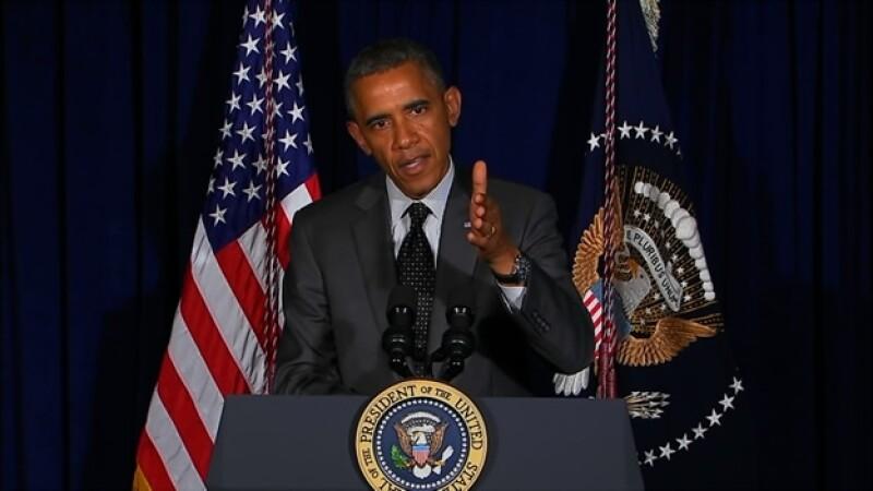 El presidente de Estados Unidos Barack Obama en una rueda de prensa en Dallas, Texas, el miércoles