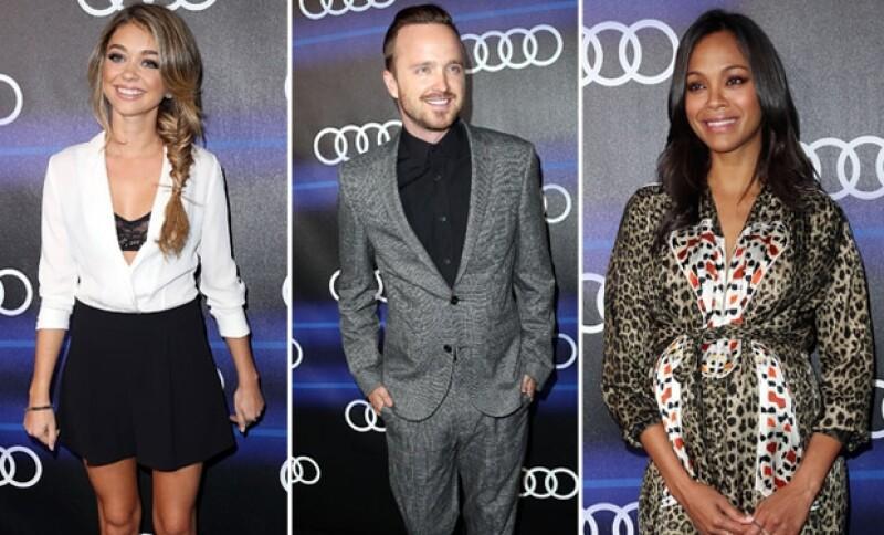 Souza estuvo en la misma fiesta que Sarah Hyland, Aaron Paul y Zoe Saldaña.
