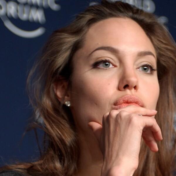 La actriz dio una conferencia como embajadora de Naciones Unidas en 2005.