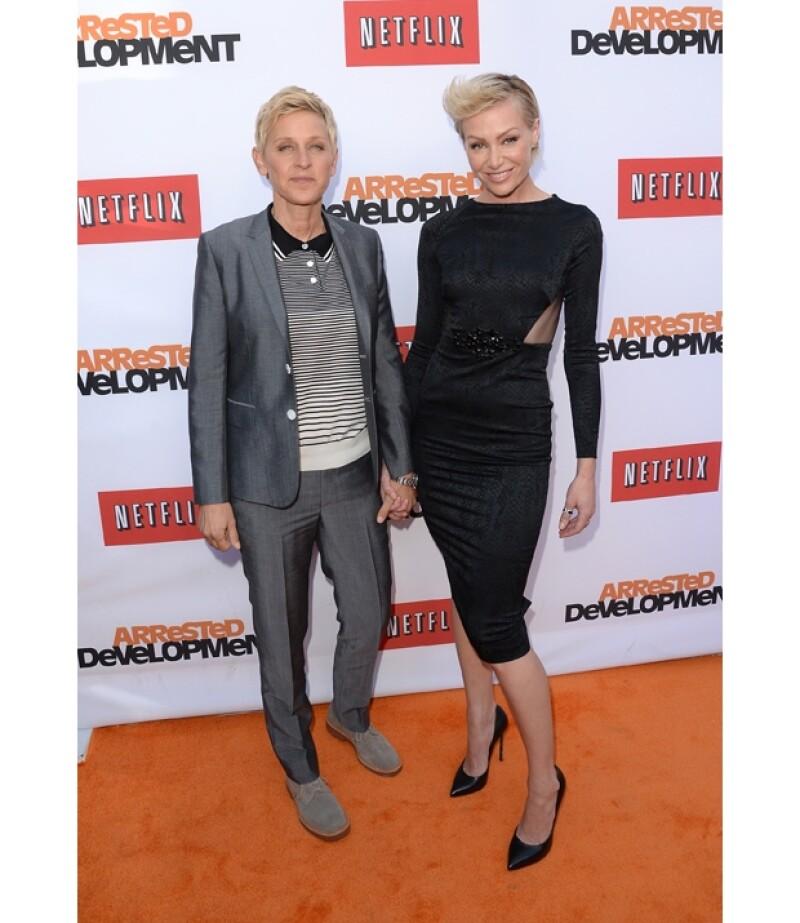 La esposa de Ellen DeGeneres confesó en una entrevista que para ella las personas homosexuales eran extrañas y se negaba a reconocer que era lesbiana.