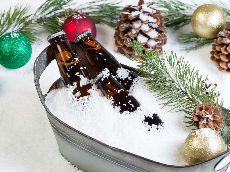 Cervezas para celebrar la Navidad