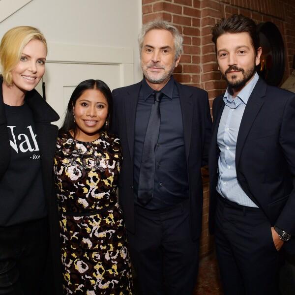 Charlize Theron, Yalitza Aparicio, Alfonso Cuarón y Diego Luna