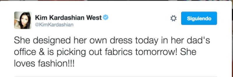 Con este tuit anunció el debút de su hija.