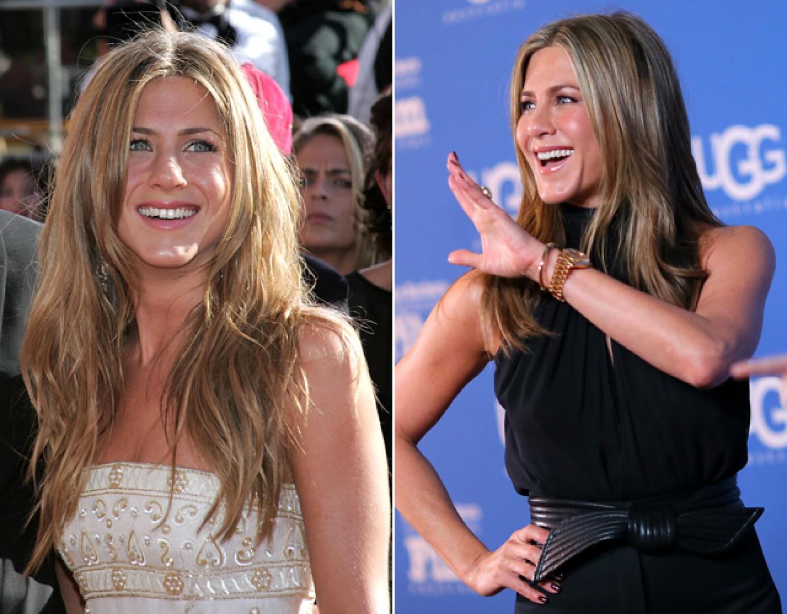 Jennifer Aniston es una de las celebs que se empeña por lucir igual que hace 15 años. ¿Lo ha logrado?