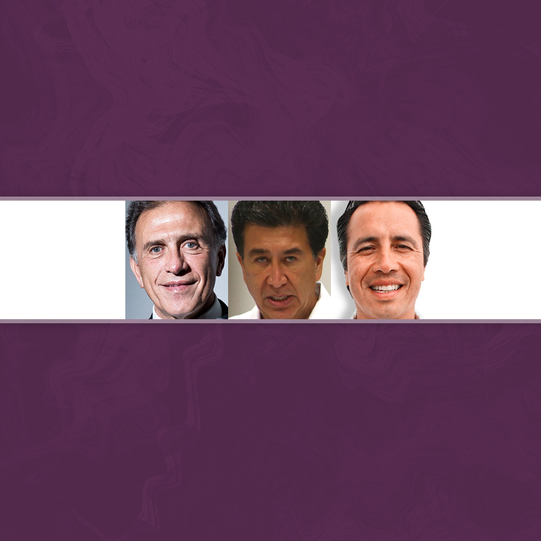 Miguel Ángel Yunes, Héctor Yunes y Cuitláhuac García.