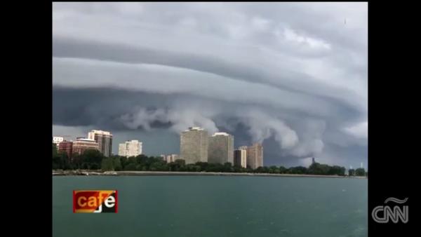 Esta formación de nubes asustó a un vecindario de Chicago