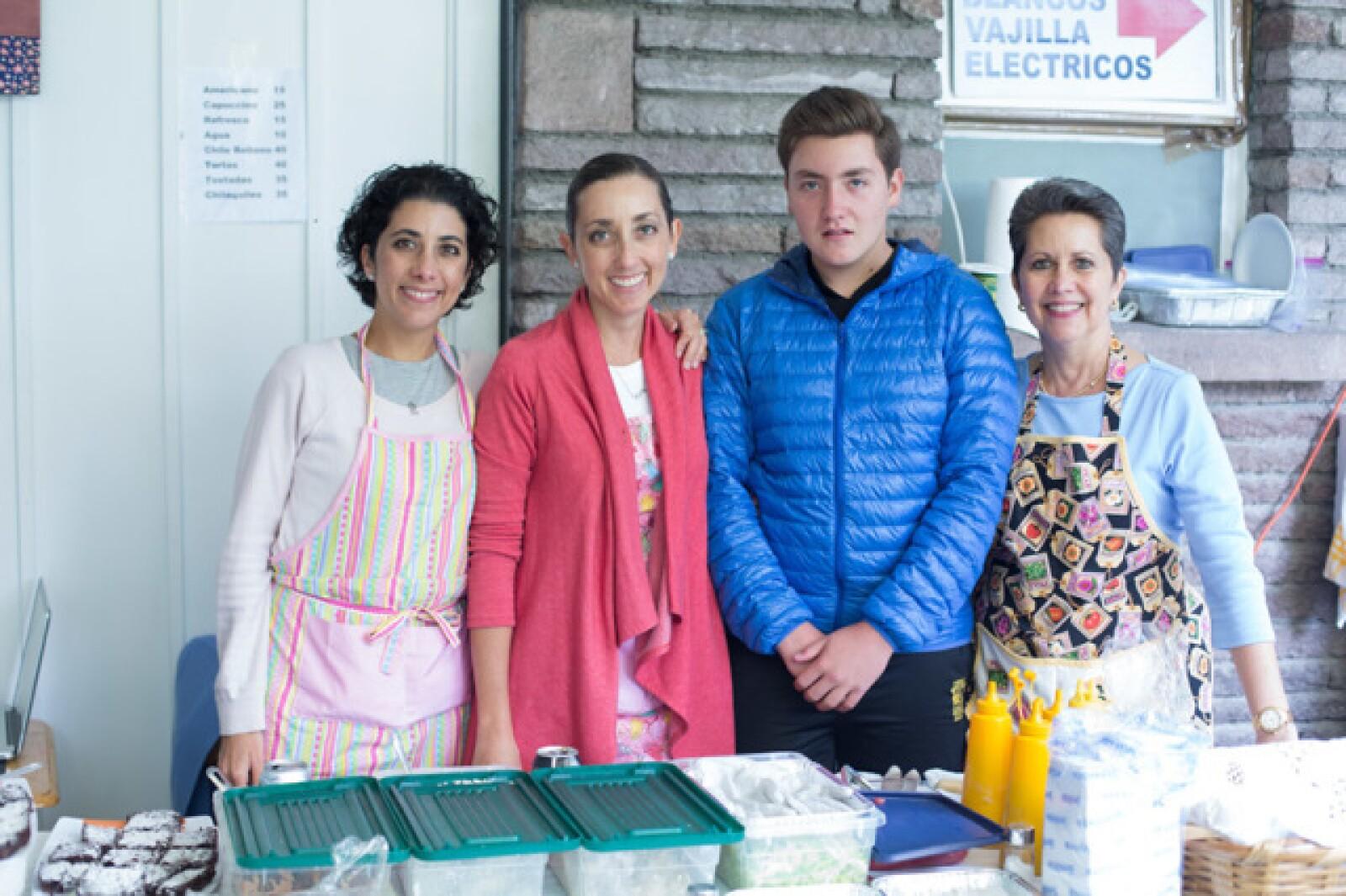 Susana Amezcua, Jimena y Alejandro Vera y Susana Amezcua