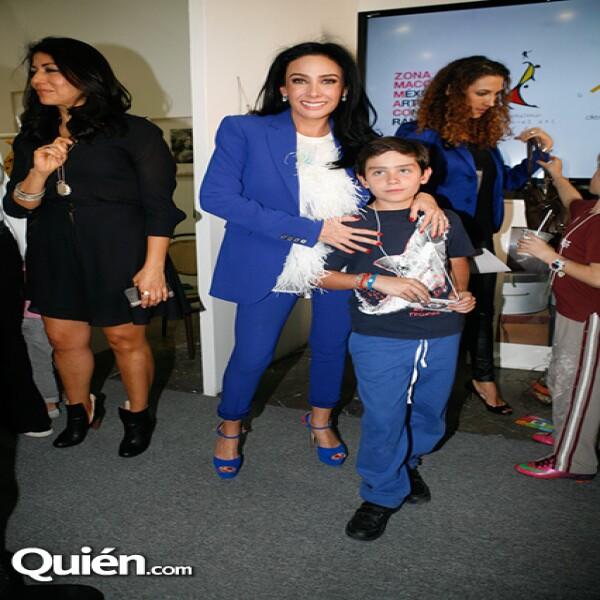 María Laura Salinas y Ricardo Salinas en Zona Maco.