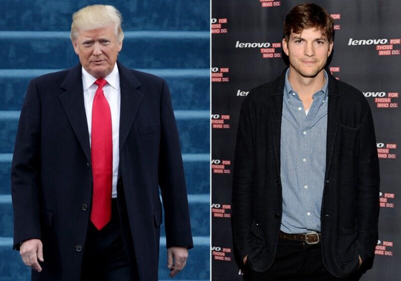 Donald Trump y Ashton Kutcher