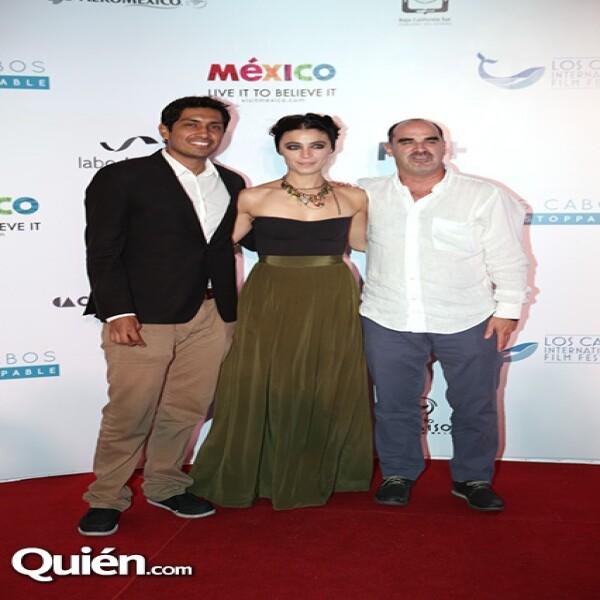 Tenoch Huerta, Ilse Salas y Ramiro Ruiz