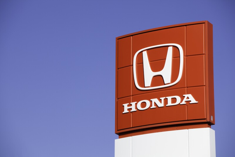 Honda Sign at Car Dealership