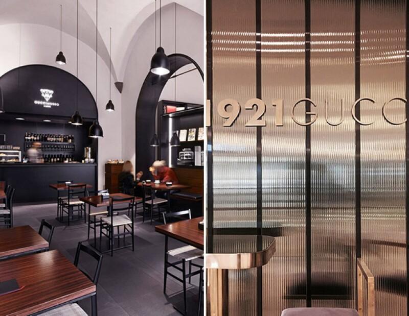 Gucci tiene un café en Florencia y un restaurante en Shanghai.