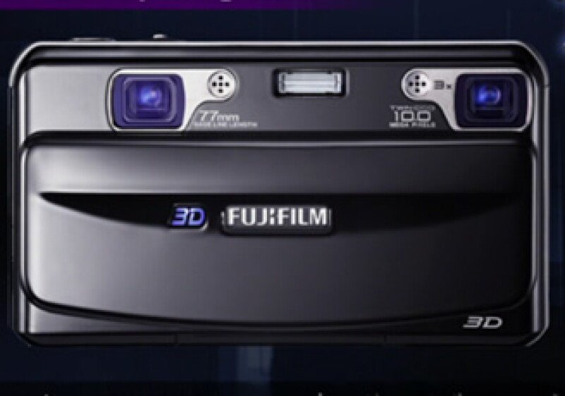 La cámara Fuji FinePix 3D utiliza dos lentes que un chip procesa y empalma en una sola imagen para lograr el efecto tridimensional. (Foto: Especial)