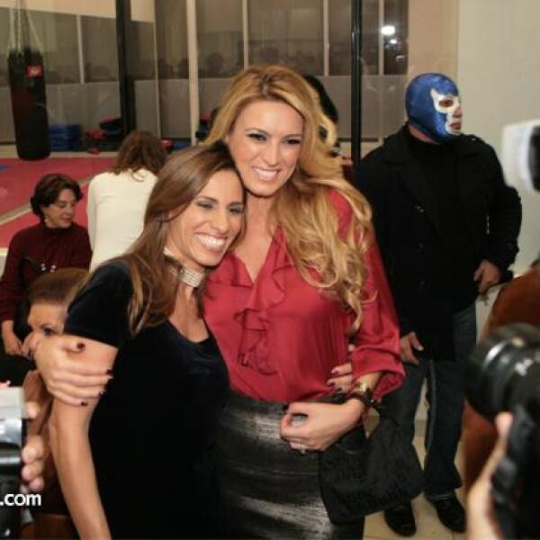 María Elena con su cuñada Johanna Slim en Plaza Carso