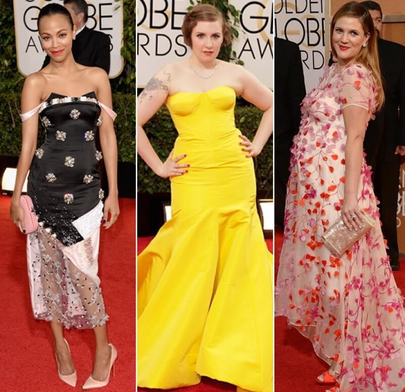 Zoe Saldana, Lena Dunham y Drew Barrymore, las peores según nuestros usuarios.