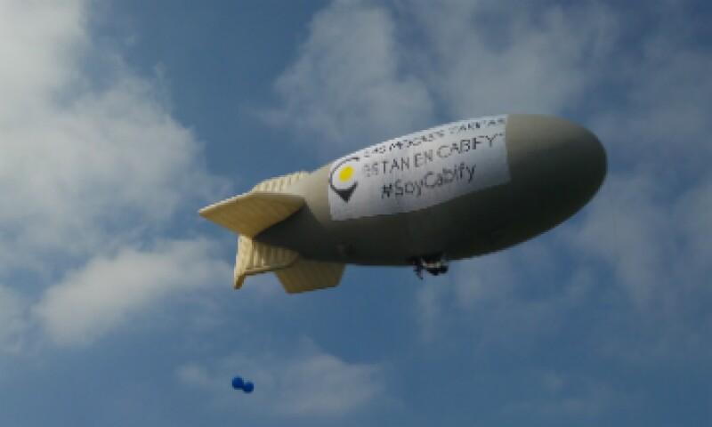 Cabify contemplaba tener un zepelín entre sus aeronaves, aunque éste quedó suspendido el mismo día por cuestiones de seguridad (Foto: Jorge Gómez/CNNExpansión )