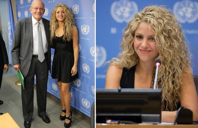 La guapa colombiana acaparó miradas durante su asistencia a la ONU, donde se mostró en un look súper sexy y fresco a meses de haberle dado la bienvenida a su segundo bebé.