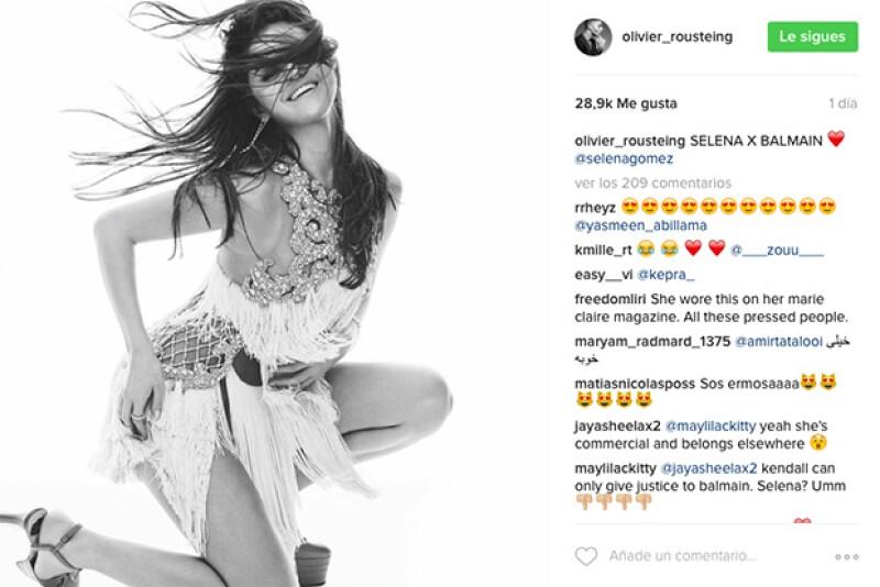 """La imagen subida por Olivier, fue nombrada """"Selena x balmain"""" lo que nos hizo preguntarnos."""