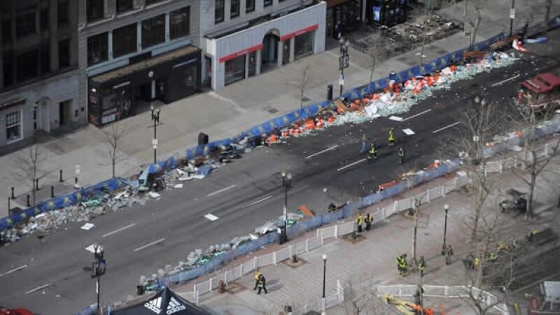 zona de explosiones en el maraton