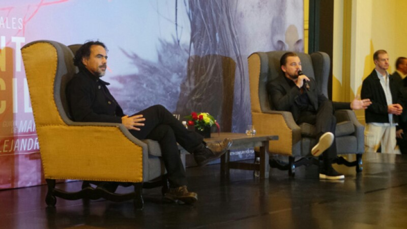 Durante la conferencia, Leo dijo: `Trabajé con Alejandro porque es uno de los directores más rompedores del momento´.