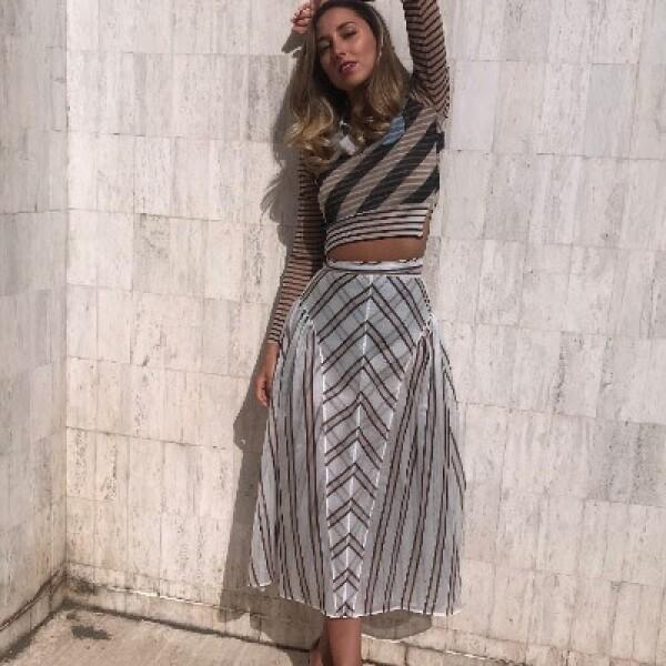 Sofía Sisniega en un look Fendi durante el festival de Cannes