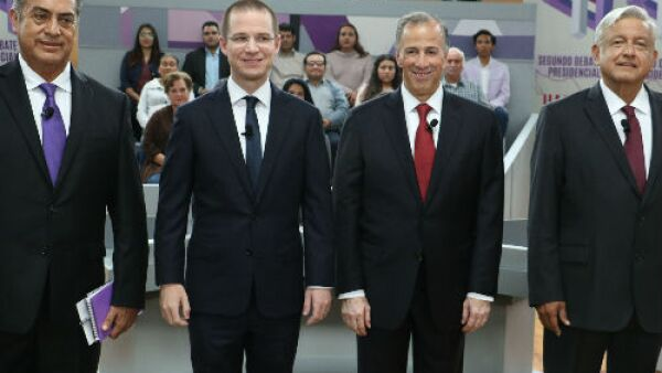 candidatos presidenciales en el 2o debate 2018