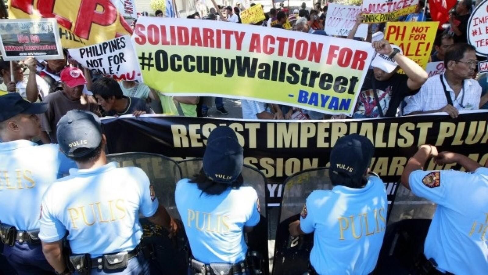 manifestacion en manila