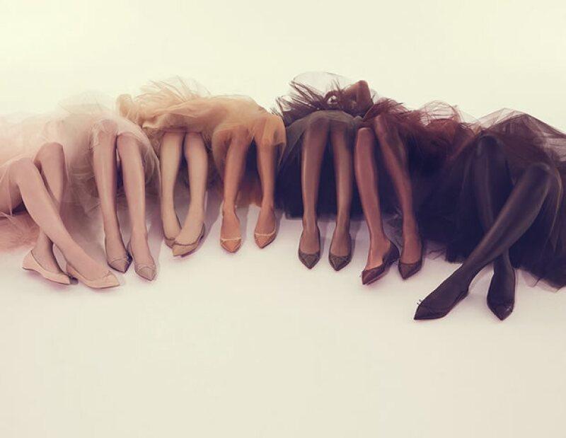 Distintas gamas de color nude se encuentran en esta colección