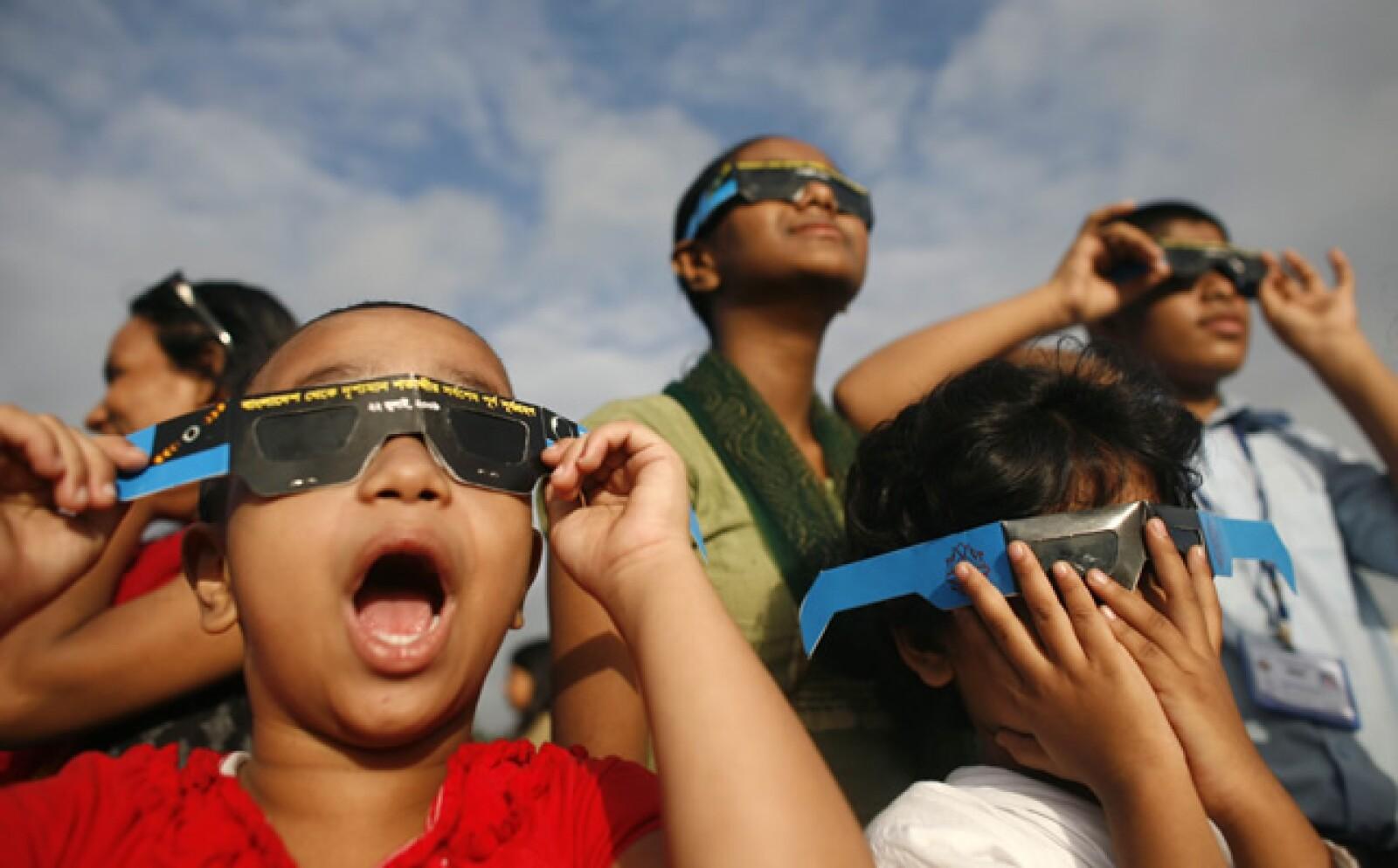Los niños disfrutaron del evento sin precedentes.