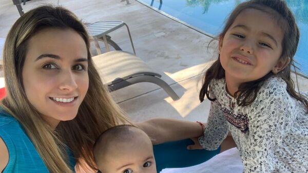 Odalys Ramírez y sus hijos Gia y Rocco