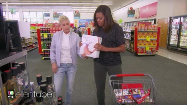 Primero Britney Spears y ahora Michelle Obama, Ellen sigue demostrando lo divertido que puede ser salir de compras con ella.