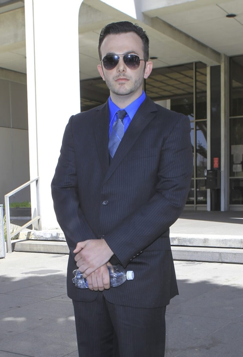 Benjamin Stewart-Kruger, ex novio de el ex RBD, con quien salió por año y medio. Aquí fuera de la corte.