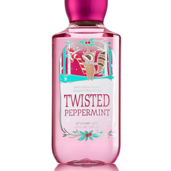 Prueba el Twisted Peppermint Shower Gel de Bath and Body Works. Su olor a menta, con azúcar y vainilla te hará sentir como nueva. CC Santa Fe. Precio en punto de venta.