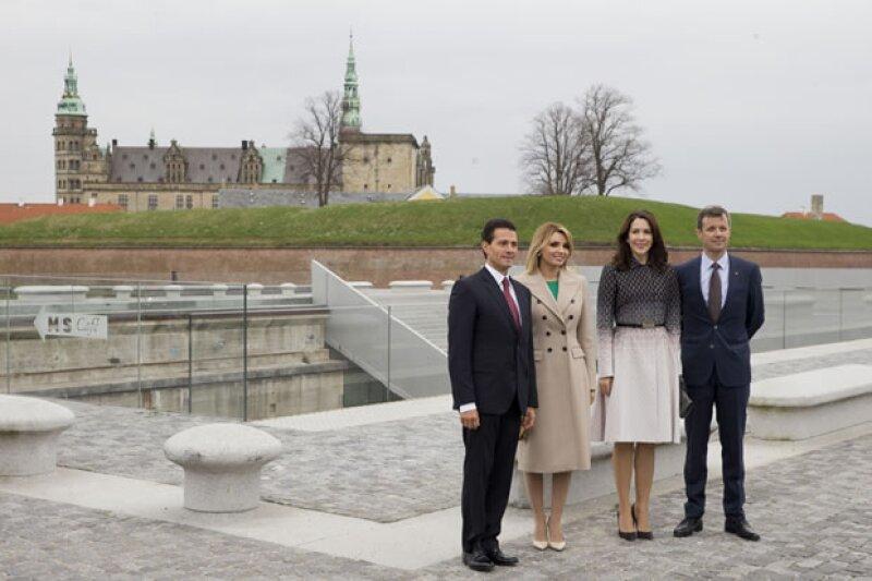 El presidente mexicano y su esposa estuvieron con la realeza danesa en una visita de Estado.