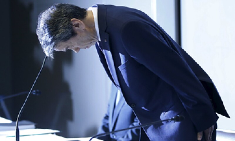 Hisao Tanaka al iniciar la conferencia de prensa de este martes. (Foto: Reuters )