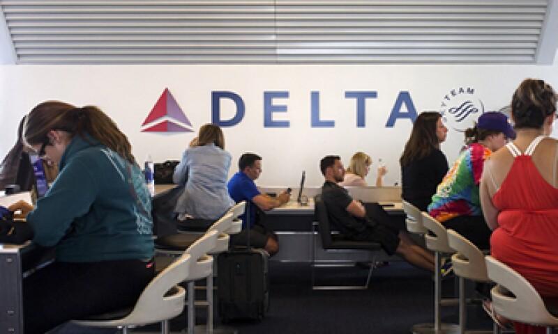 Delta reportó 963 mdd más comparado con el mismo periodo del año anterior. (Foto: Reuters)
