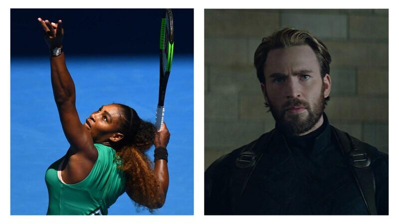 Serena Williams y Chris Evans