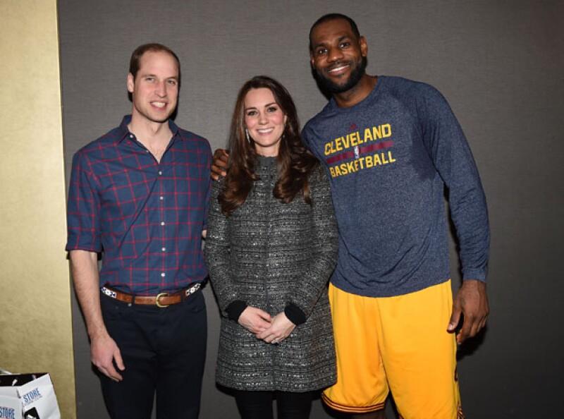 Príncipe William, Kate Middleton y LeBron James.