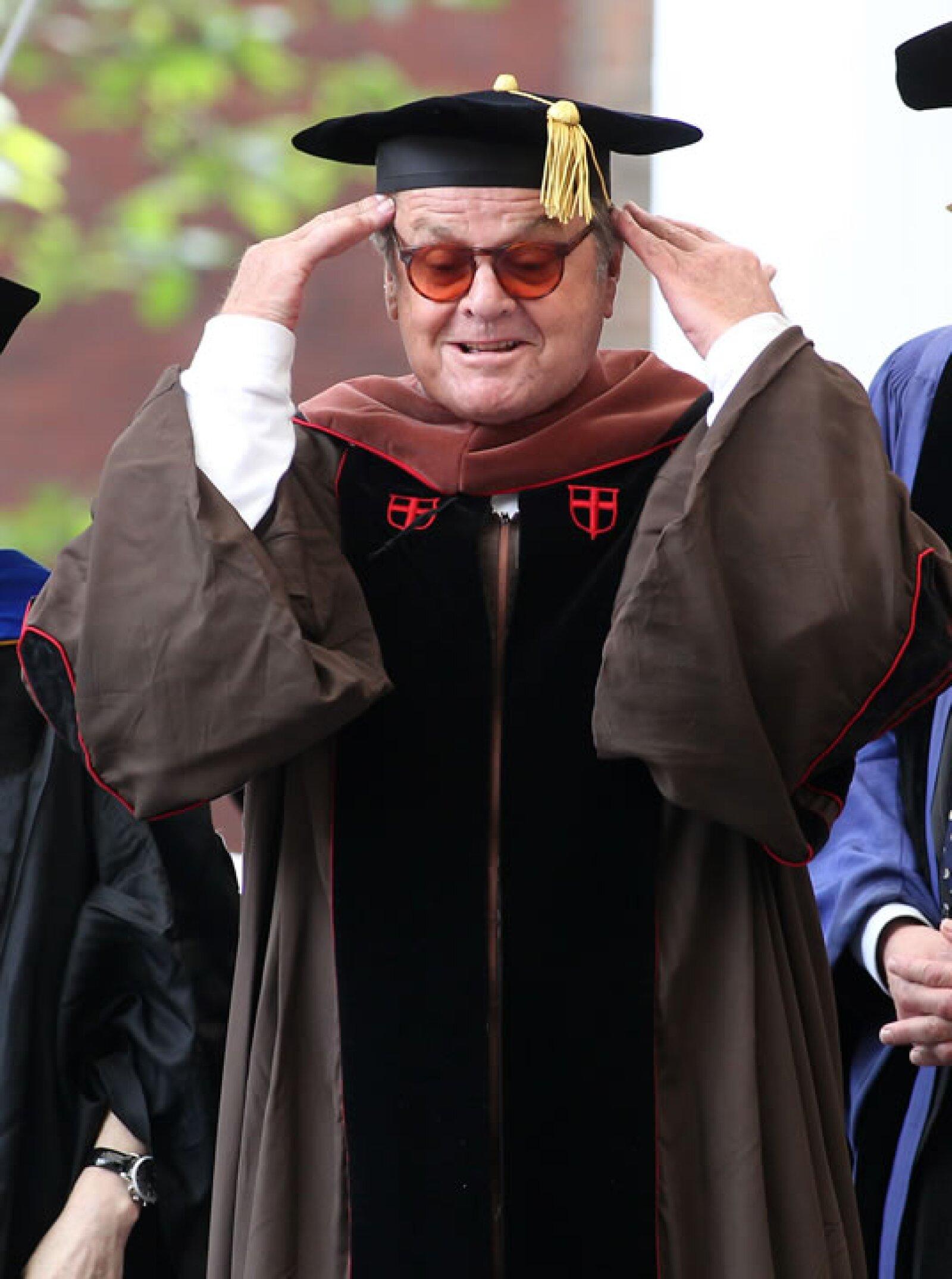 Al igual que Ben Affleck, Jack Nicholson obtuvo en 2011 su doctorado en Bellas Artes, por la Universidad de Brown.