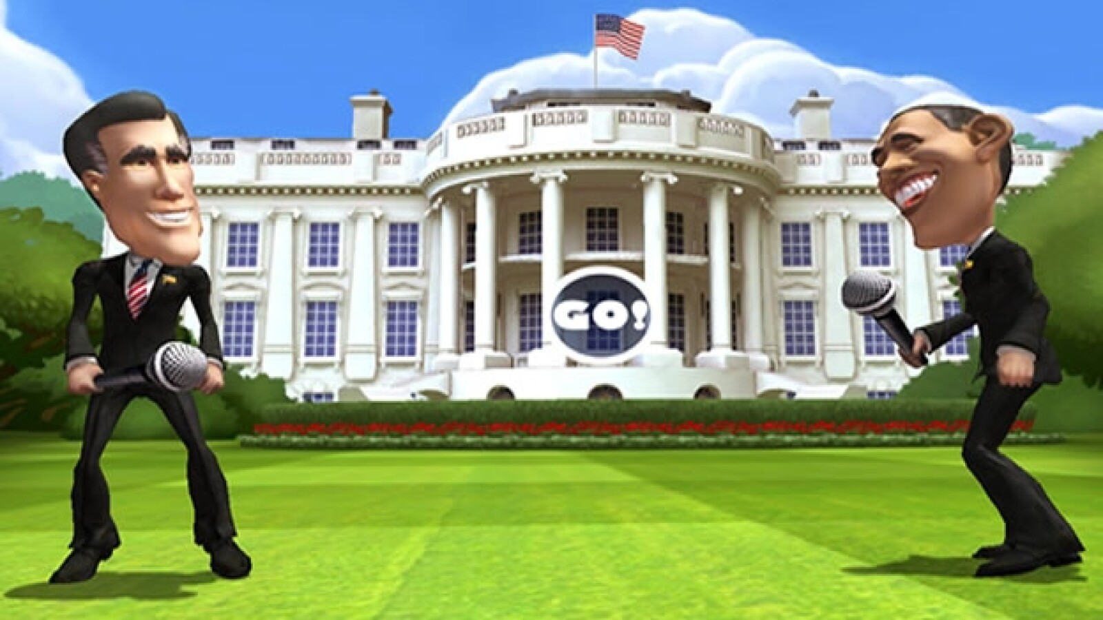 barack obama mitt romney casa blanca video juego epic games