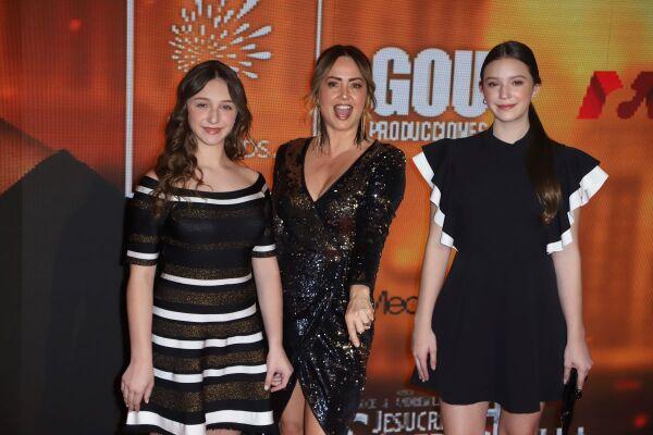 Nina Rubín, Andrea Legarreta y Mía Rubín.