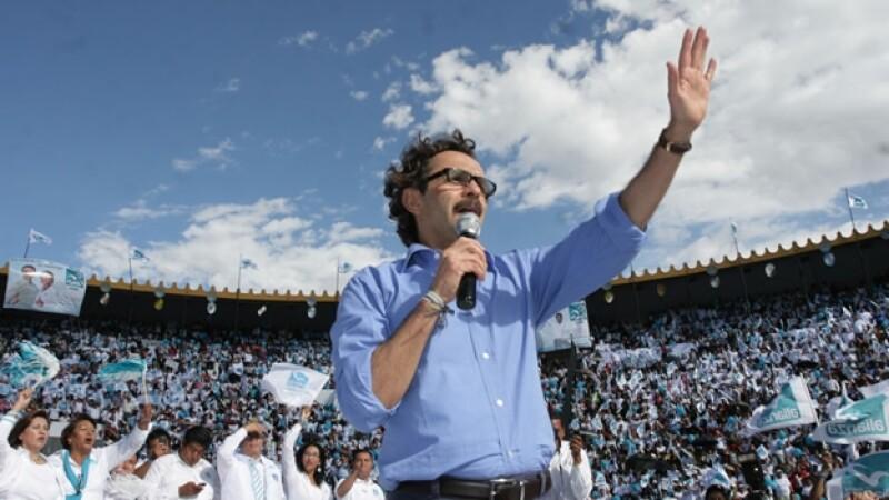 Gabriel Quadri durante un evento en Pachuca, Hidalgo