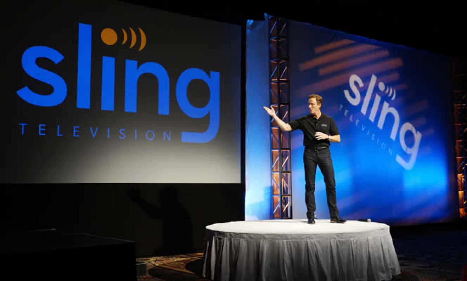 El CEO de Sling TV,Roger Lynch, anunció el nuevo servicio de streaming.