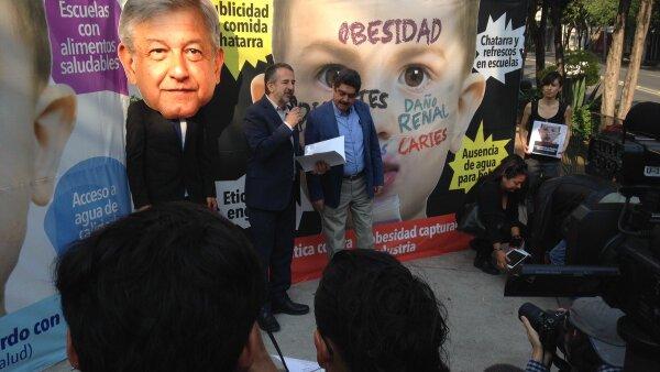 Actúa por la salud visita las casas de campaña de los presidenciables para exigir incluir en su agenda una política de combate a la obesidad y a la desnutrición.