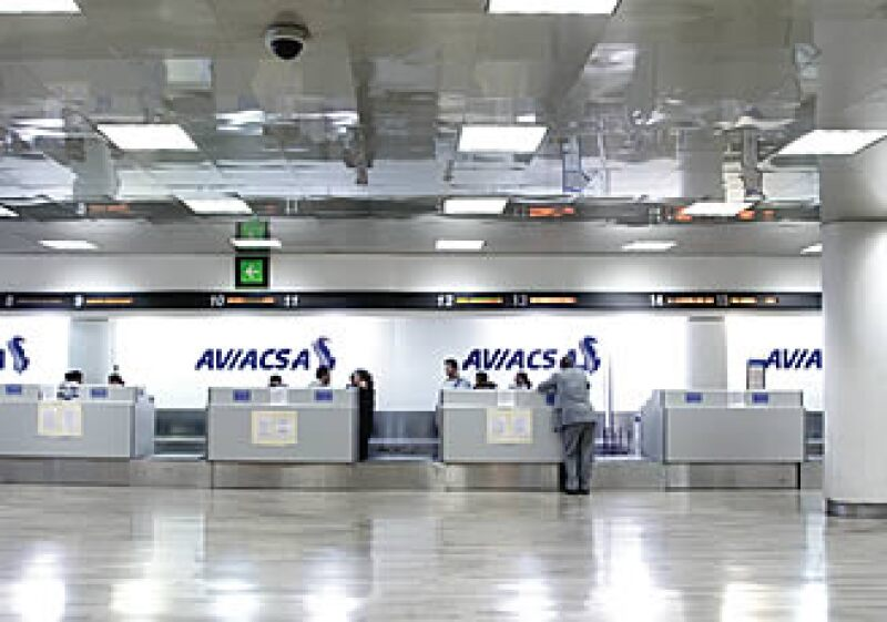 Así lucieron en julio los mostradores de Aviacsa en el Aeropuerto Internacional de la Ciudad de México. (Foto: Adán Gutiérrez)