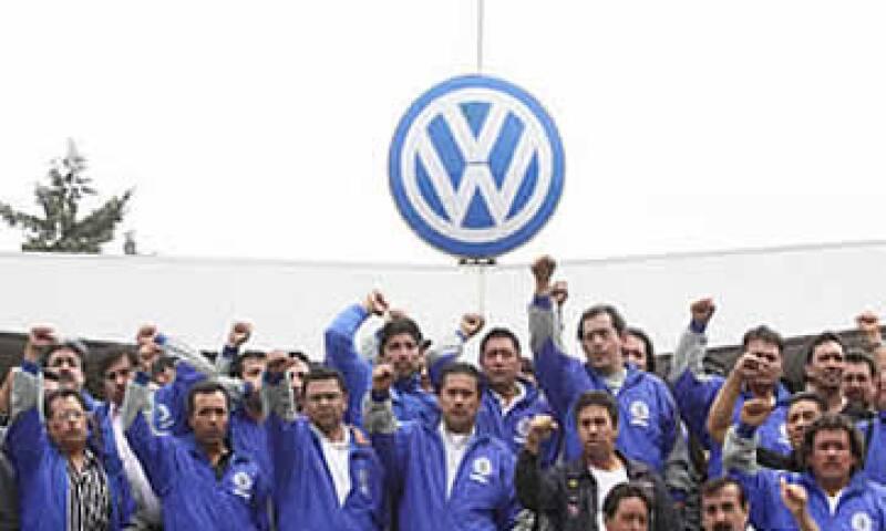 Trabajadores de VW (Foto: NTX)
