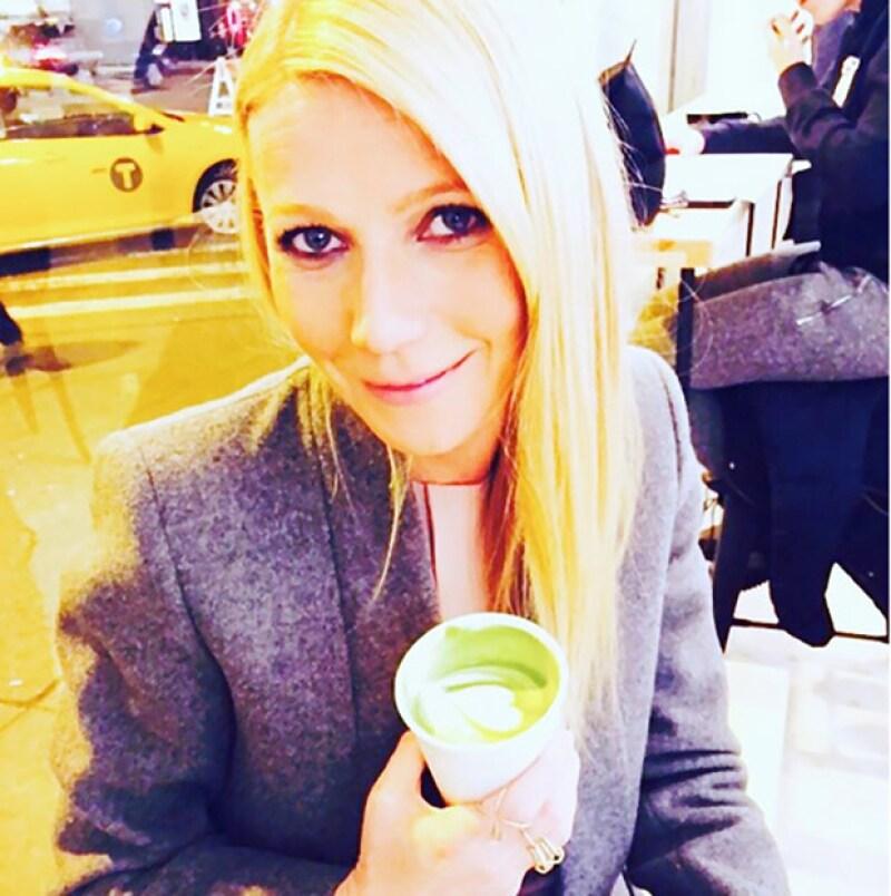 Gwyneth Paltrow es fanática del té matcha.