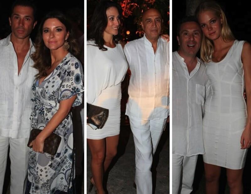Al Yucatán Moda Nextel asistieron Sergio Mayer e Isabella Camil, Roberta López Negrete y Pedro Torres y Rafael Micha quien posó junto a la modelo estrella Erin Heatherton.
