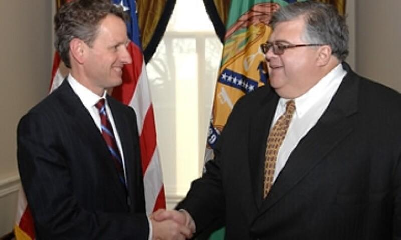 """Geithner ha sostenido """"buenas discusiones"""" con Carstens sobre su candidatura al FMI, dijo la dependencia. (Foto: Cortesía Treasury.gov)"""