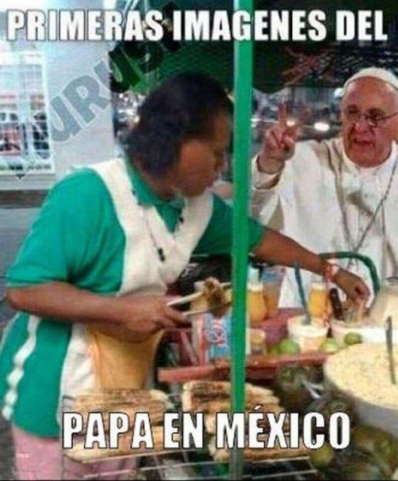 Ni el Pontífice se resiste a la verdadera comida mexicana.